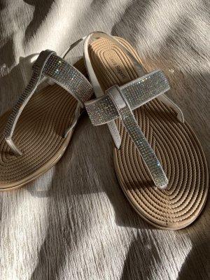 Laura biagiotti Sandalias de tacón con talón descubierto blanco-color plata