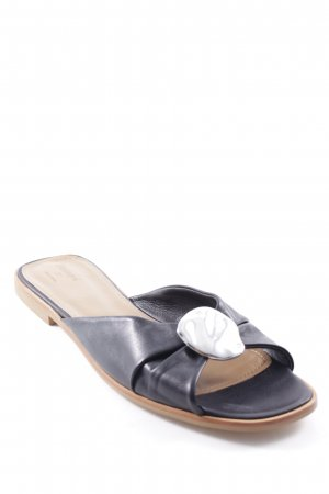 High-Heeled Toe-Post Sandals black-silver-colored casual look