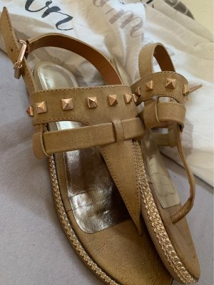 Catwalk Toe-Post sandals light brown-gold-colored