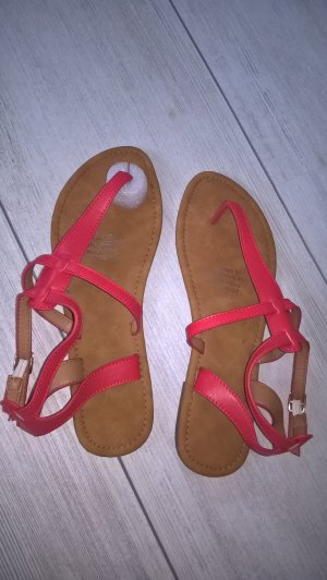 Toe-Post sandals neon red-red