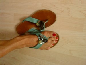 Graceland Toe-Post sandals multicolored