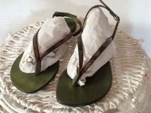 Toe-Post sandals multicolored leather