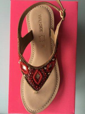 Sandalo rosso scuro