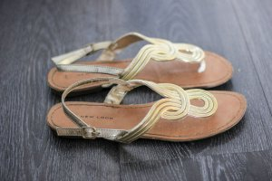 New Look Sandalo toe-post oro-marrone chiaro