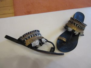 Conleys High-Heeled Toe-Post Sandals multicolored