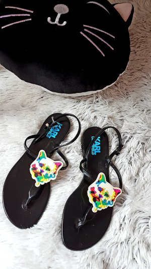 Karl Lagerfeld Toe-Post sandals multicolored