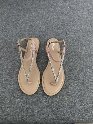 Asos Sandalo toe-post color oro rosa