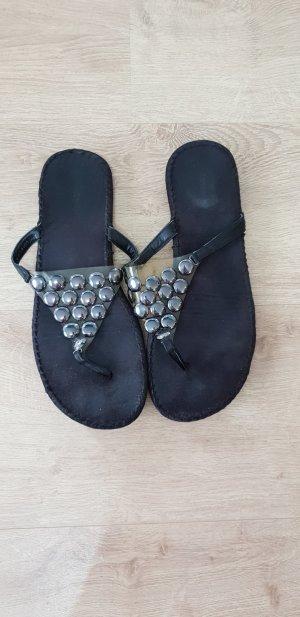 Graceland Sandalias con talón descubierto negro-color plata