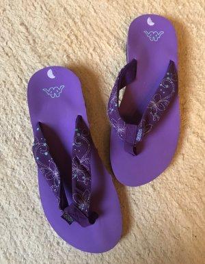 Kappa Toe-Post sandals black-lilac
