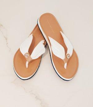 Tommy Hilfiger Flip-Flop Sandals white-beige