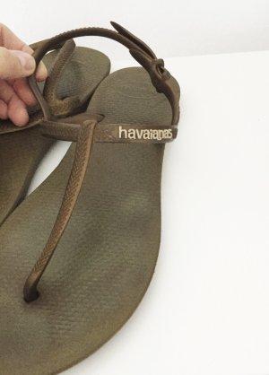 Zehentrenner / Flipflop Sandalen Havaianas in bronzeton