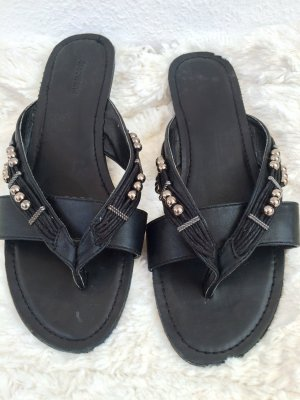Deichmann Toe-Post sandals black