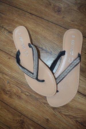 Esmara Toe-Post sandals silver-colored-black