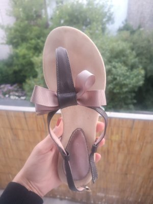 Toe-Post sandals grey leather