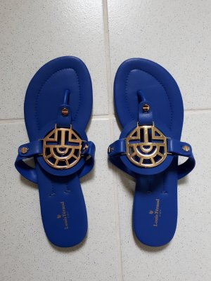 Louis Feraud Toe-Post sandals blue leather