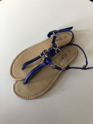 Sandalias con talón descubierto azul-azul oscuro