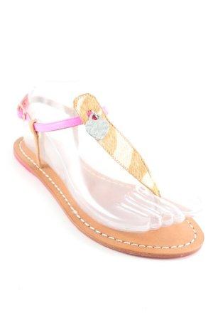 Toe-Post sandals animal pattern street-fashion look