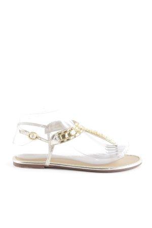 Sandalo toe-post oro stile casual