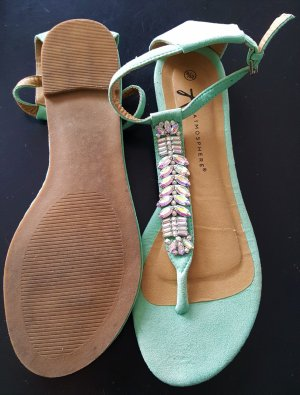 Atmosphere High-Heeled Toe-Post Sandals mint