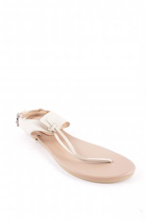 Toe-Post sandals oatmeal casual look