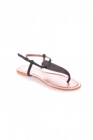 Zehentrenner-Sandalen schwarz-braun