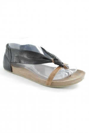 Toe-Post sandals black-light brown casual look