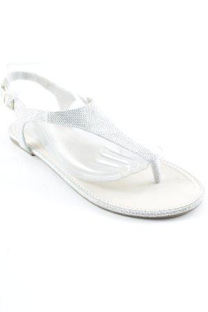Teenslippers zilver elegant