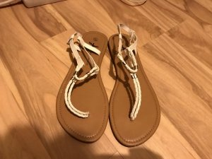 Atmosphere T-Strap Sandals white-brown
