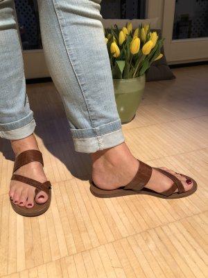Zehentrenner Sandalette braun
