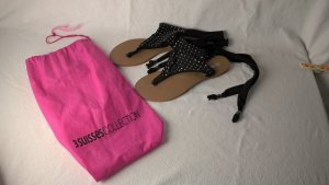3 Suisses Toe-Post sandals black