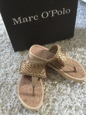 Marc O'Polo Toe-Post sandals gold-colored