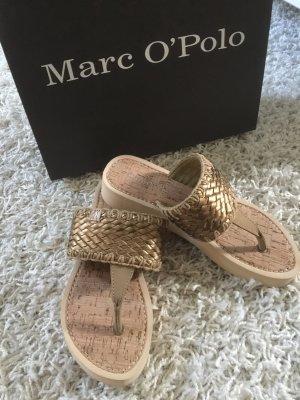 Marc O'Polo Sandalias con talón descubierto color oro