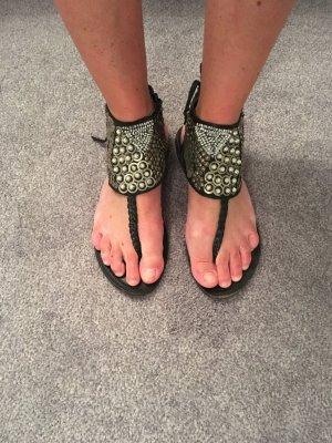 Sandalias con talón descubierto multicolor Cuero