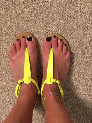 H&M Entre-doigt jaune fluo polyuréthane