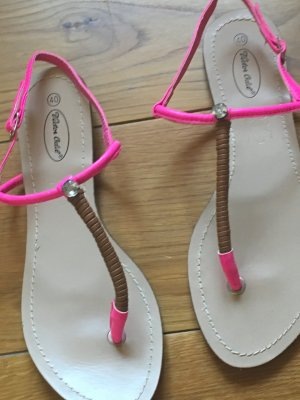 5th Avenue Toe-Post sandals magenta-brown