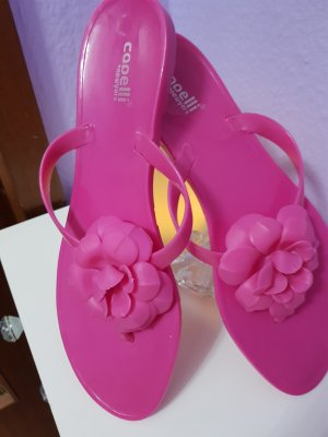 High-Heeled Toe-Post Sandals pink synthetic material