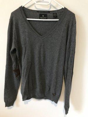 Zeitlos schöner Woll-Pullover von Maison Scotch in dunkelgrau Größe 34