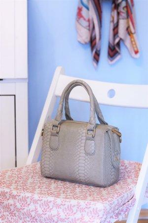 Mini sac gris clair faux cuir