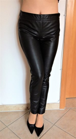 Apart Fashion Leather Trousers black leather