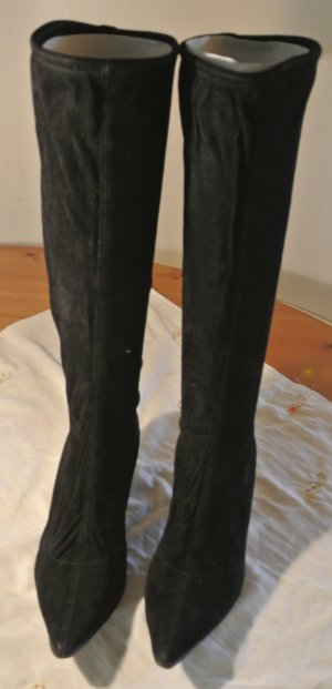 Sergio Rossi Stretch Boots black suede