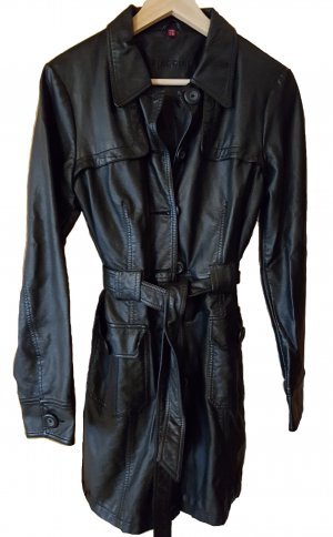 Biaggini Trench Coat black imitation leather