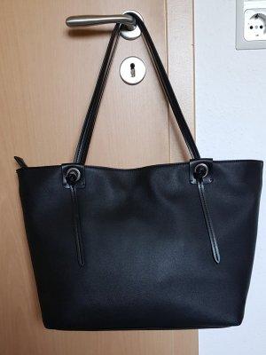 Esprit Shopper noir faux cuir