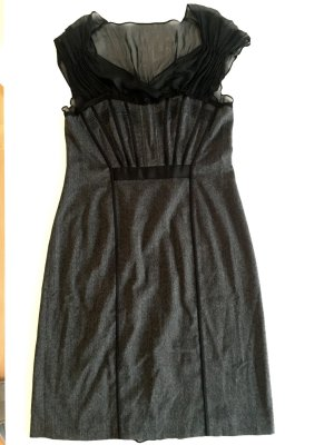 Alberta Ferretti Vestido de noche negro-gris oscuro