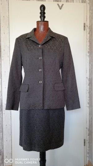 Blacky Dress Traje para mujer gris antracita-púrpura tejido mezclado