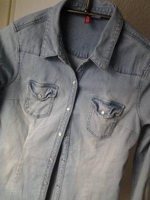 zeitloses jeanshemd schöne waschung