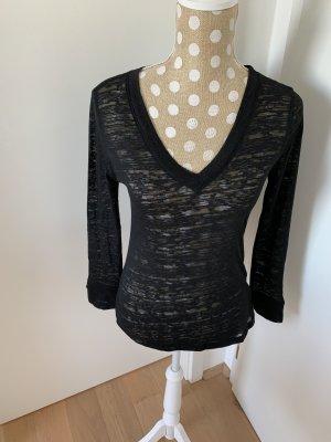 V-hals shirt zwart