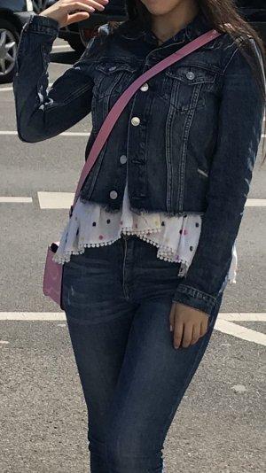 H&M Veste en jean bleu foncé