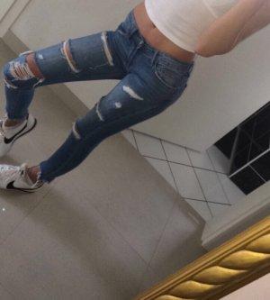 Zara Vaquero hipster azul acero