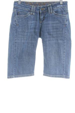 Zero Jeans 3/4 bleu style décontracté