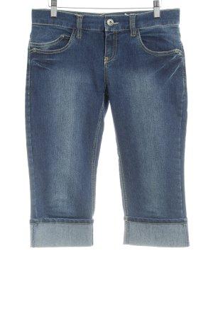 Zero Jeans 3/4 bleu foncé style décontracté